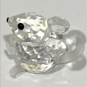 Swarovski 100% Crystal Mouse Made In Austria